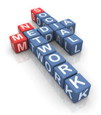 社会的なメディア ネットワークのクロスワード — ストック写真