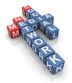 Palavras cruzadas de rede de mídia social — Foto Stock