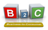3d buzzword b2c — Stock Photo