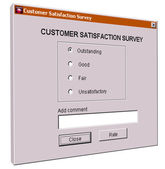 Customer satisfaction survey interface — Stock Photo