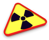 3d radioactive radiation symbol — Stock Photo