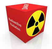 3d radiation symbol — Stock Photo