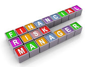 3d FRM - financial risk manager — Stock Photo