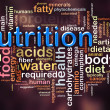 Wordcloud of nutrition — Stock Photo