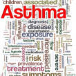 Asthma wordcloud — Stock Photo