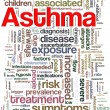 Asthma wordcloud — Stockfoto