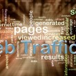 Wordcloud of web traffic — Foto Stock