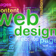 Stock Photo: Wordcloud of Web design