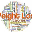 Wordcloud of weight loss - Stock Photo
