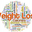 Wordcloud of weight loss — Stock Photo