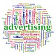 Word cloud of advertising — 图库照片