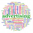 Word cloud of advertising — Stockfoto