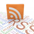RSS icon — Stock Photo #9086405