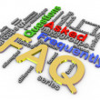 3d faq wordcloud — Stock Photo