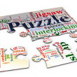 3d puzzle wordcloud — Stock Photo