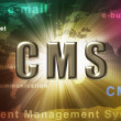 CMS wordcloud — Stock Photo
