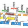3d vacant position — Stock Photo