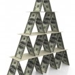 3d dollar pyramid — Stock Photo #9087971