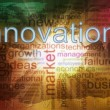 Innovation wordcloud — Stock Photo
