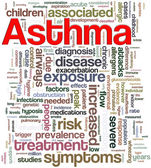 Asthma wordcloud — 图库照片