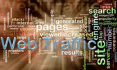 Wordcloud of web traffic — Stock Photo