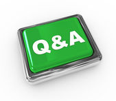 3d push button q&a — Stock fotografie