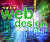 Wordcloud del web design — Foto Stock
