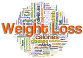 Wordcloud of weight loss — Foto Stock