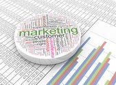 3d marketing — Stock Photo
