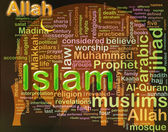 'Islam' wordcloud — Stockfoto