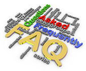 3d faq wordcloud — 图库照片