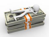 3d man debt relief — Stockfoto