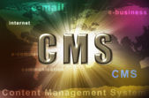Cms wordcloud — 图库照片