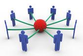 3d bedrijfsconcept netwerk — Stockfoto