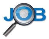 Při hledání zaměstnání — Stock fotografie