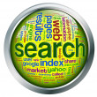 3d search button — Stock Photo