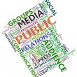 Wordcloud of public relation — Stockfoto