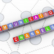 Stock Photo: 3d communications channels