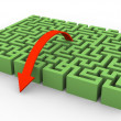 3d maze and arrow — Stock Photo #9176021