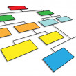 3d organizational chart — Stock Photo