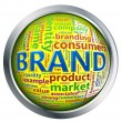 Shiny button of 'brand' wordcloud — ストック写真