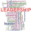 Leadership wordcloud — Stock Photo