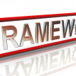 3d buzzword text 'framework' — Stock Photo