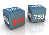 3d credit score dice — Stockfoto