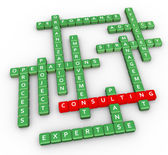 Crossword of consulting — Stock Photo