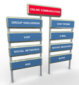 Online communication — Stock Photo