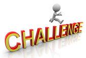 3d-uitdaging springen — Stockfoto