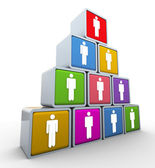 Teamwerk en leiderschap — Stockfoto