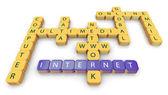 Palavras cruzadas da internet — Fotografia Stock