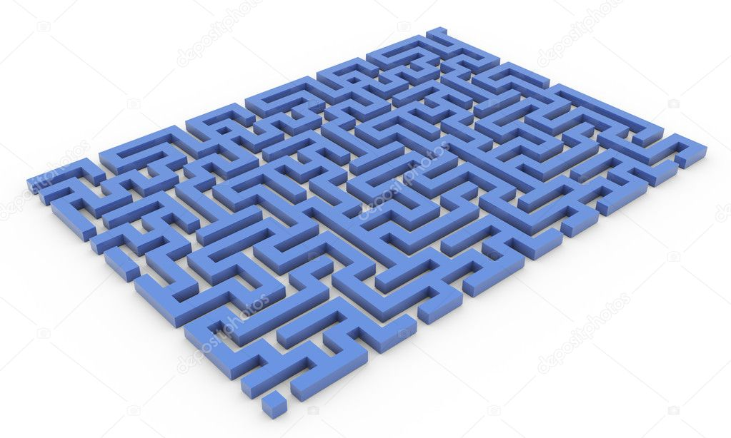 3d render of labyrinth maze  Stock Photo #9176034